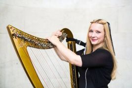 shelley with gold harp